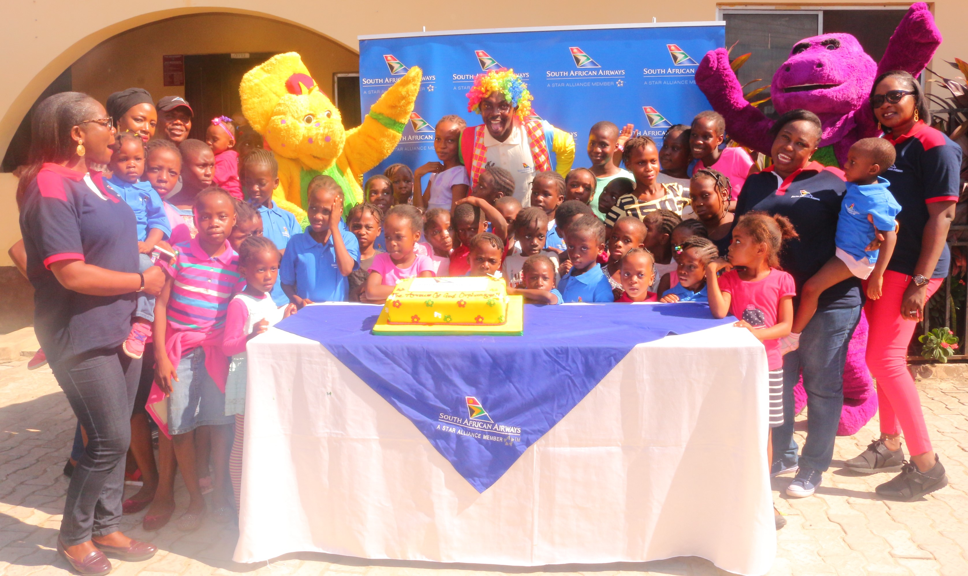Team South African Airways with Arrows of God Orphanage Children