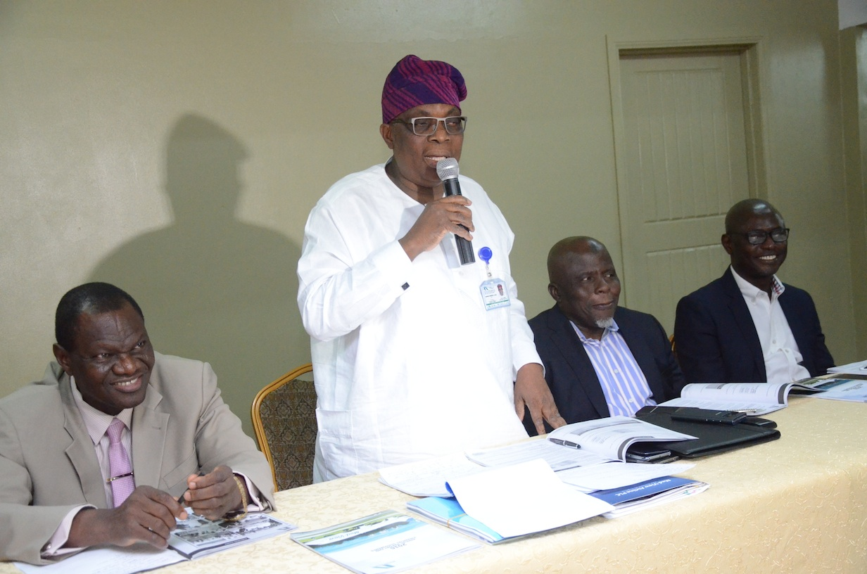 L-R: Executive Director/ Chief Operating Officer, Med-View Airline, Engr. Lookman O, Animashaun, CEO, Alhaji Muneer Bankole,Non-Executive Director, Alhaji Bode Oyedeleand Executive Director, Business Development, Mr. Isiaq Na'Allah during a Pre- AGM of the airline held at the Welcome Center, Airport Road, Ikeja on Tuesday