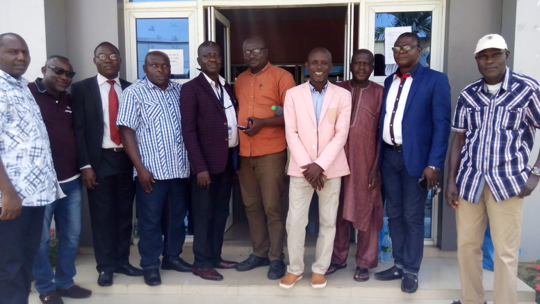 """The Chief Executive Officer, Safecrest Services Limited, Mr. Solomon Ohiomah, 5th from left with ex-staff of Bristow Helicopters Nigeria at a post-employment workshop with the theme, """"Life After Paid Employment"""" in Lagos"""