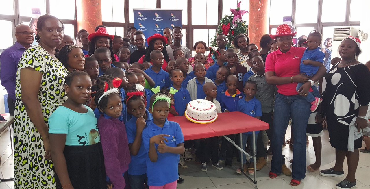 Arrows of God Orphanage kids during the South African Airways exclusive movie viewing session at Silverbird Galleria in Lagos