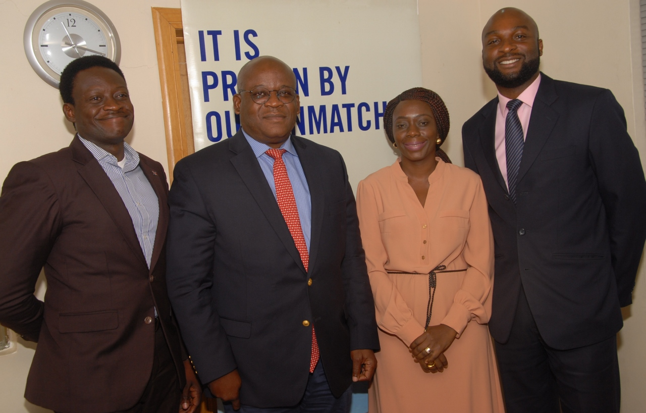 L-R: Mayowa Babatunde, Manager Business Development; Captain Akin Oni, Managing Director, Mrs Tinu Olufunke, HR Manager and Tolu Olubajo, Senior Legal Director all of Bristow Helicopters (Nigeria) Limited at the media engagement on Bristow operations in Nigeria.