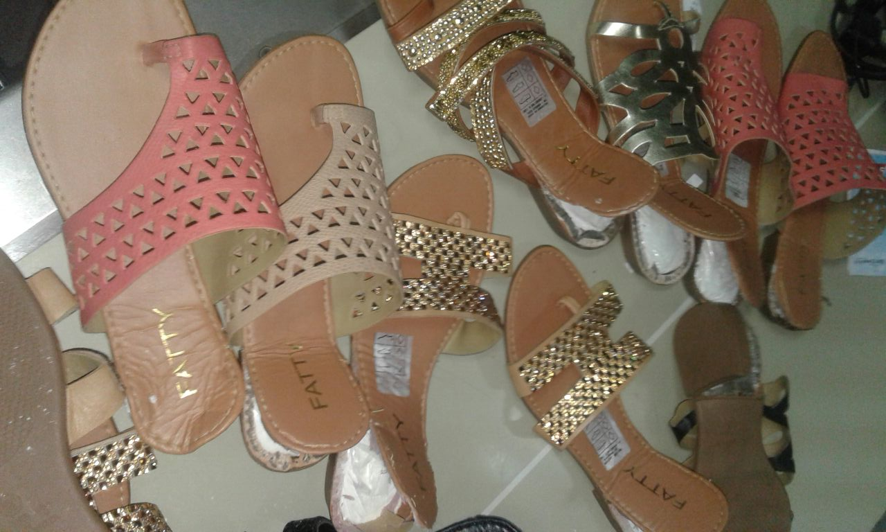 Shoes containing cocaine