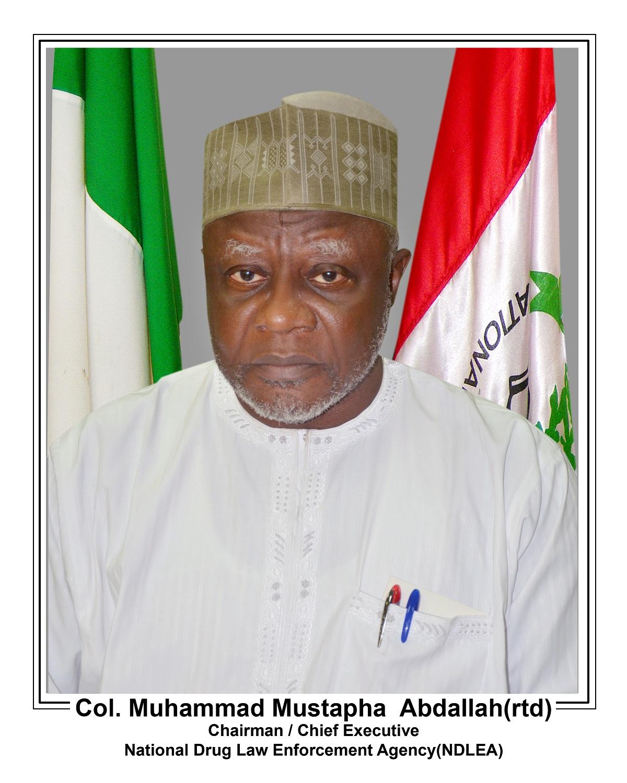 Chairman/Chief Executive of the NDLEA, Col. Muhammad Mustapha Abdallah